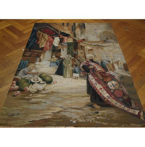 4x6 Authentic Handmade Tapestry Rug-China
