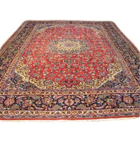 10x13 Authentic Handmade Persian Esfahan Rug-Iran