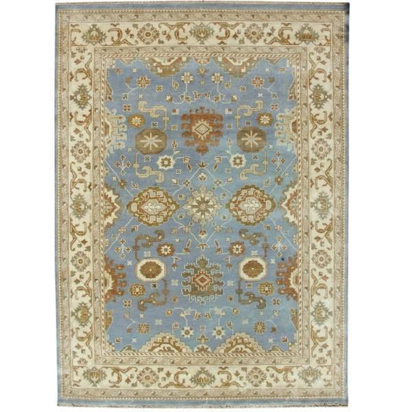 Harooni Rugs - Dazzling 9x12 Authentic Hand Knotted Oushak Rug - India