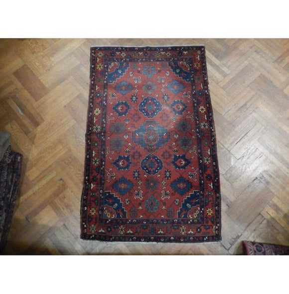 4x7 Authentic Hand Knotted Antique Russian Kazak Rug - Russia