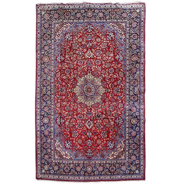 10x16 Authentic Hand Knotted Persian Isfahan Rug - Iran