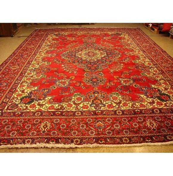 11x17 Authentic Handmade Persian Tabriz Rug-Iran
