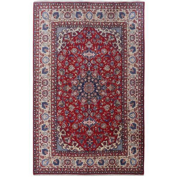 11x17 Authentic Hand-knotted Persian Isfahan Rug - Iran