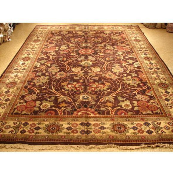 Harooni Rugs - Dazzling 10x14 Authentic Hand Knotted Fine Quality Jaipur Rug - India