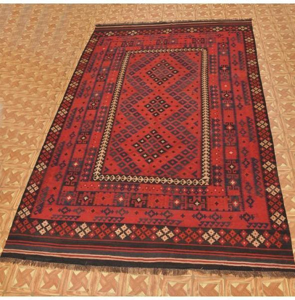 Luxurious 8x13 Authentic Handmade Kilim Rug - Pakistan