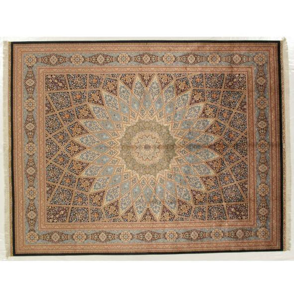 10x14 Authentic Hand-knotted 400KPSI Fine Silk Rug - China