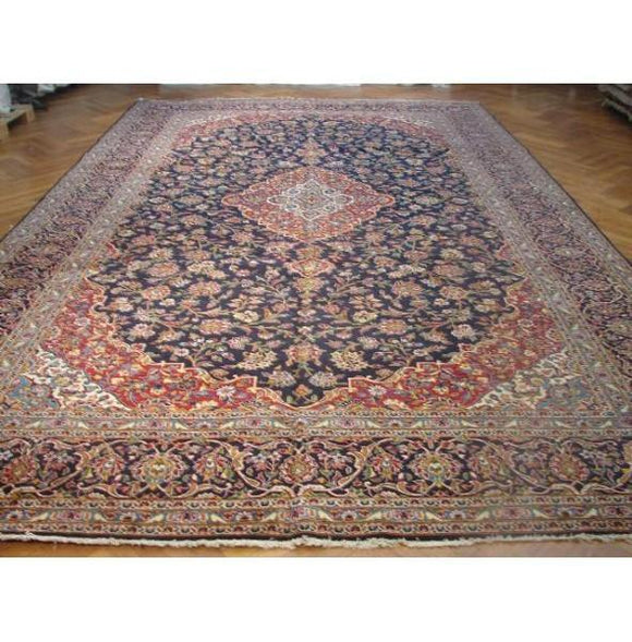 11x17 Authentic Handmade Persian Kashan Classic Rug-Iran