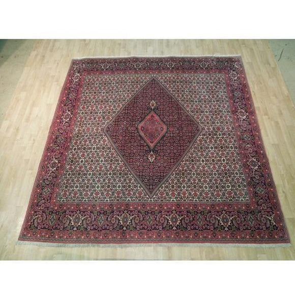 8x8 Authentic Hand Knotted Fine Persian Bijar Rug - Iran