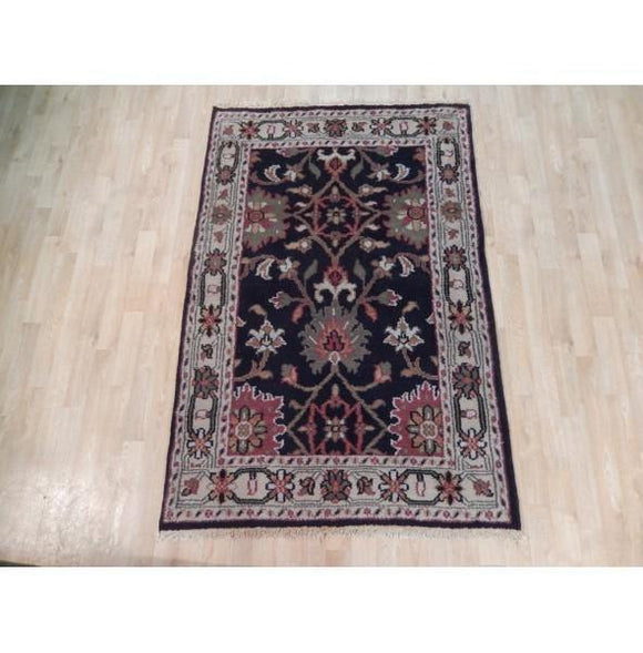 Harooni Rugs - Dazzling 4x6 Authentic Hand Knotted Mahal Rug - India