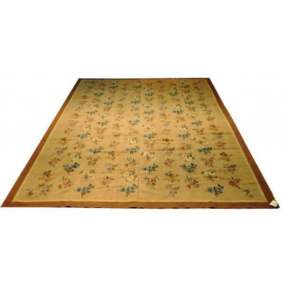 10x14 Authentic Hand-knotted Fine Flat-woven Aubusson - Rug