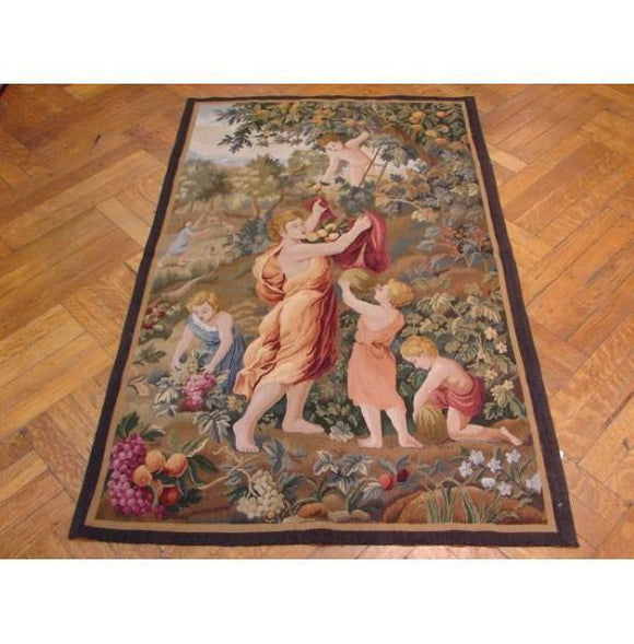 3x5 Authentic Handmade 17th Century Style Tapestry-China