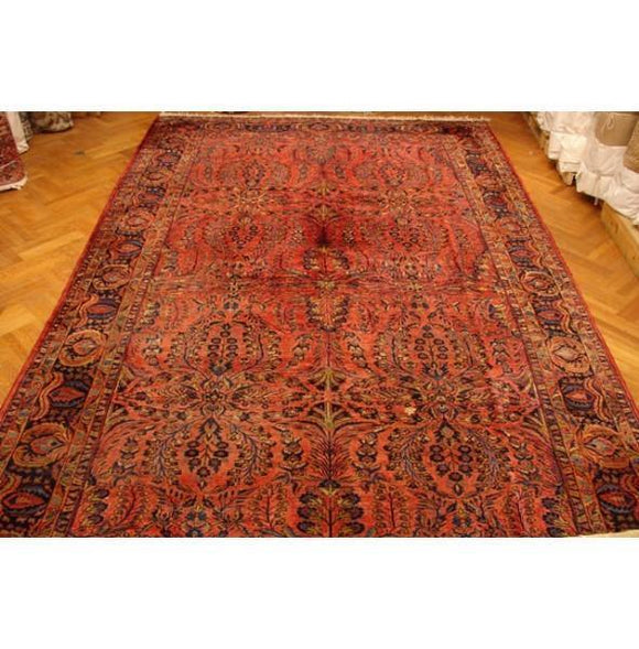 11x17 Authentic Handmade Antique Persian Sarouk Rug-Iran