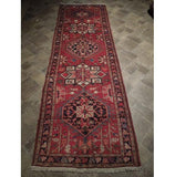 3x11 Authentic Hand Knotted Semi-Antique Persian Karaja Runner - Iran