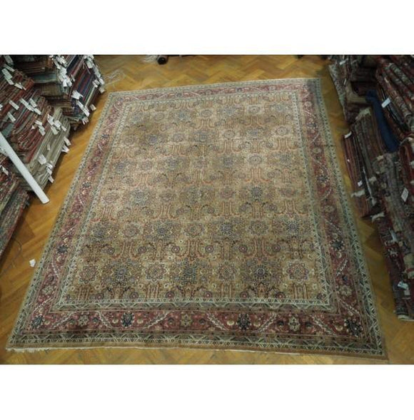 12x14 Authentic Hand Knotted Antique Persian Bakhtiari Rug - Iran