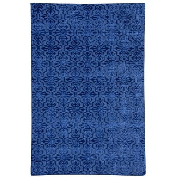 9x10 Authentic Hand Knotted Contemporary Rug - India