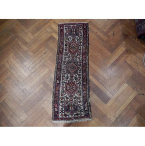 2x5 Authentic Hand Knotted Antique Persian Karaja Runner - Iran