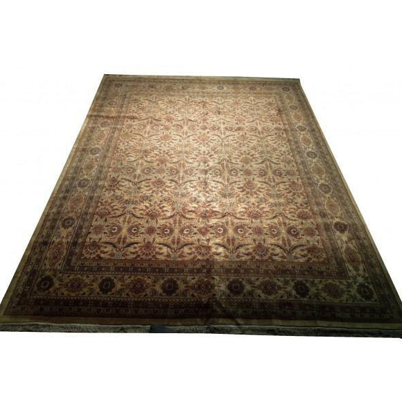Harooni Rugs - Dazzling 12x15 Authentic Hand-Knotted Traditional Jaipur Rug - India