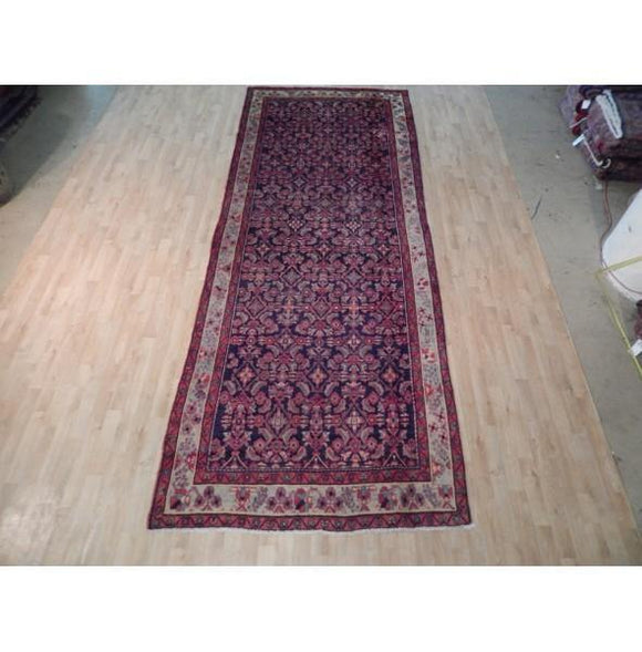 5x14 Authentic Hand Knotted Semi-Antique Persian Herati Runner - Iran