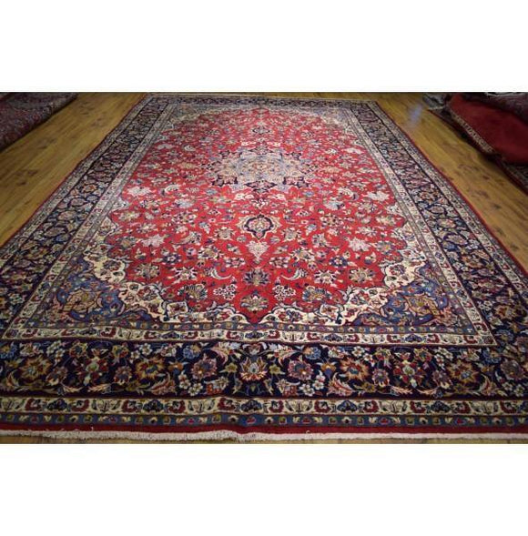 10x16 Authentic Hand Knotted Persian Isfahan Najafabad Rug - Iran