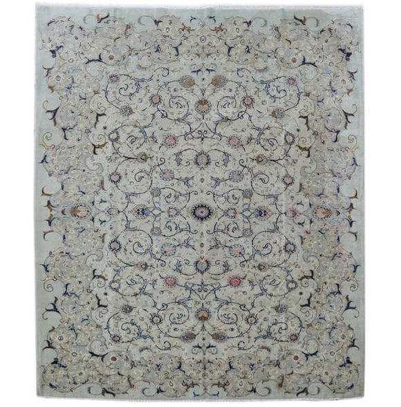 11x13 Authentic Hand-knotted Persian Signed Kashan Rug - Iran
