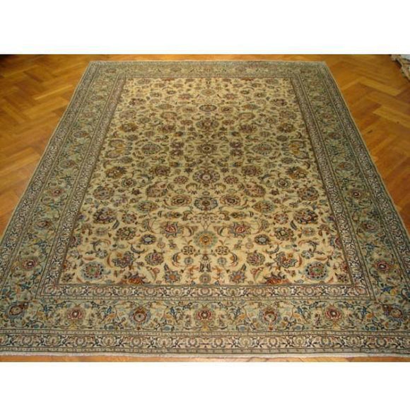 10x13 Authentic Handmade Kashan Rug-IRAN