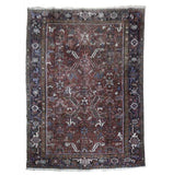 8x10 Authentic Hand Knotted Semi-Antique Persian Heriz Rug - Iran