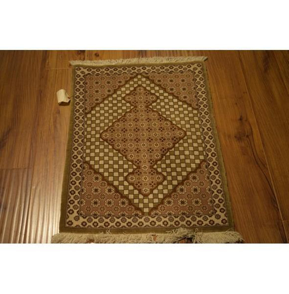 2x3 Authentic Hand-Knotted Rug