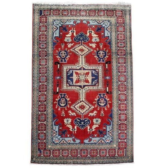 7x11 Authentic Hand Knotted Persian Ardebil Rug - Iran