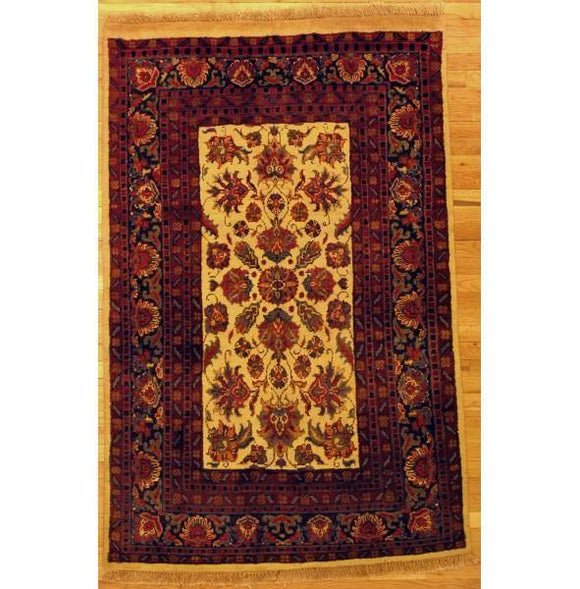 4x6 Authentic Hand-Knotted New Agra Rug - India