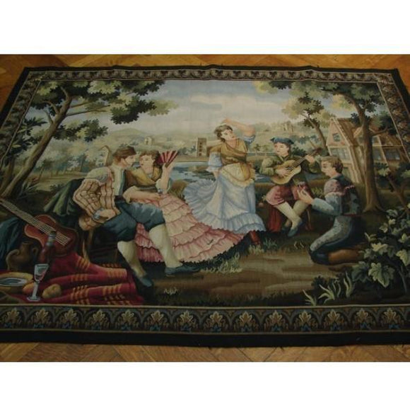 4x6 Authentic Handmade 17th Century Style Tapestry Rug-China
