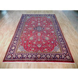 7x10 Authentic Hand Knotted Semi-Antique Persian Isfahan Rug - Iran