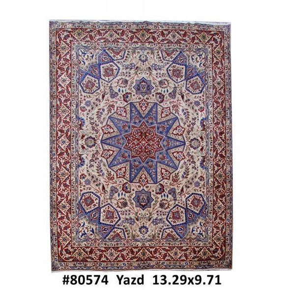 10x13 Authentic Hand Knotted Persian Bakhtiari Rug - Iran