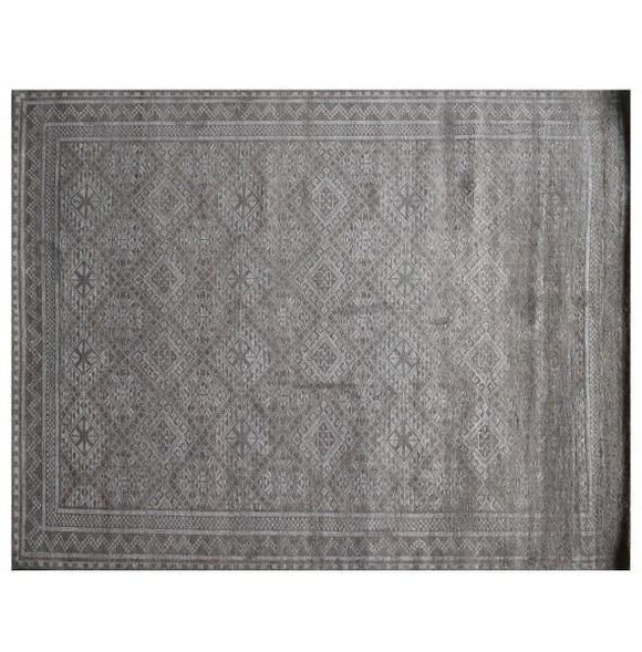 10x12 Authentic Hand-Knotted Modern Rug - India