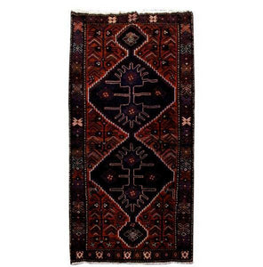 4x7 Authentic Hand Knotted Persian Hamadan Rug - Iran