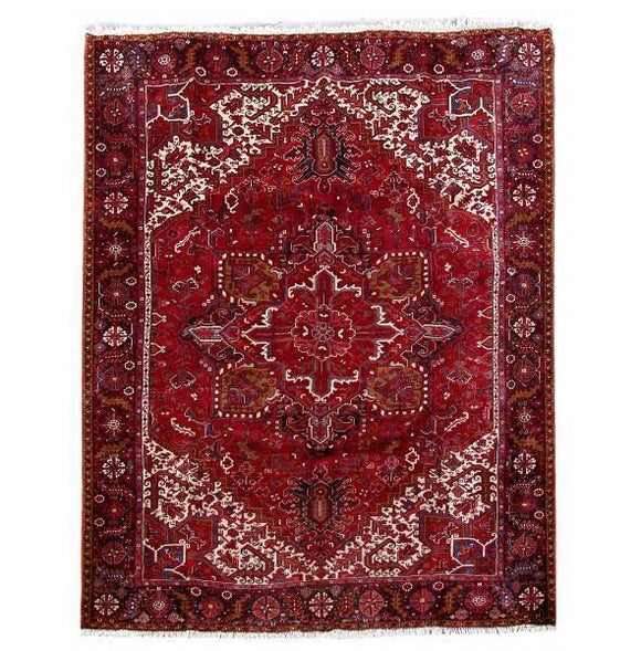 10x12 Authentic Hand Knotted Persian Heriz Rug - Iran