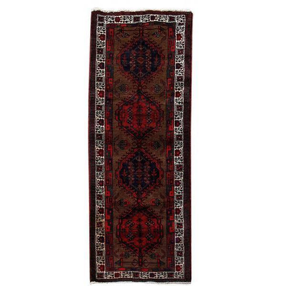 4x9 Authentic Hand Knotted Persian Ardebil Rug - Iran