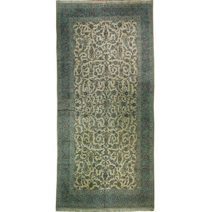 10x20 Authentic Handmade Signed Persian Kashan Rug-Iran