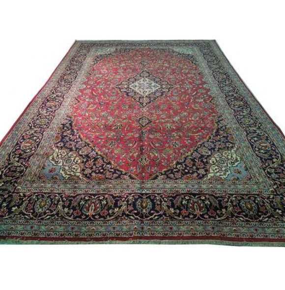 11x17 Authentic Handmade Persian Kashan Rug-Iran [BNY]
