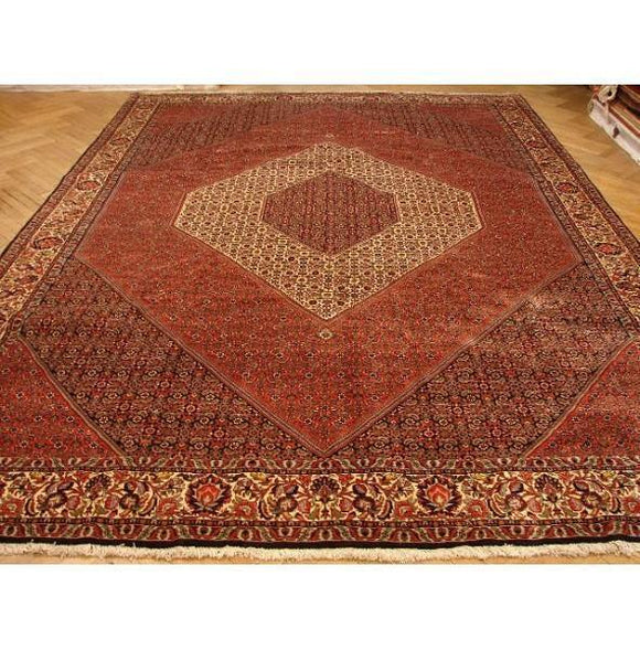 10x13 Authentic Handmade Persian Bidjar Rug-Iran