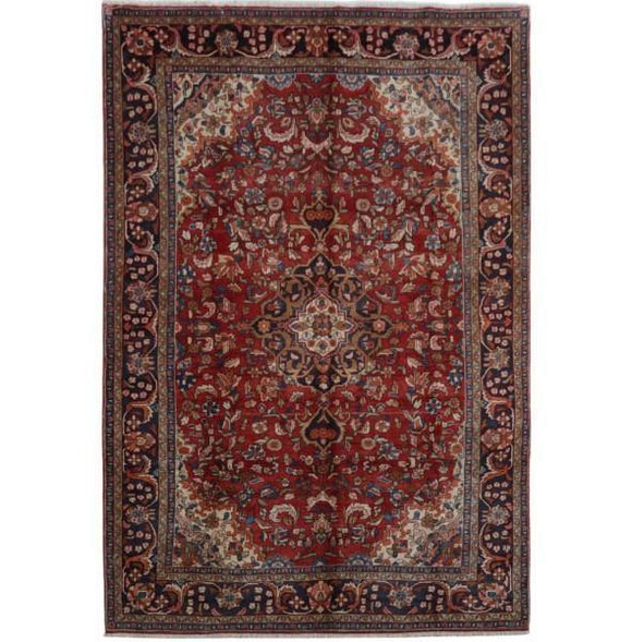 8x13 Authentic Hand-knotted Persian Hamadan Rug - Iran