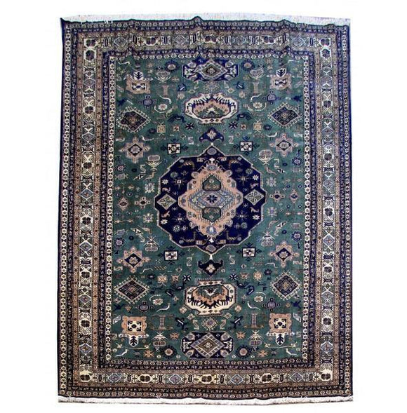 10x13 Authentic Hand Knotted Persian Ardebil Rug - Iran