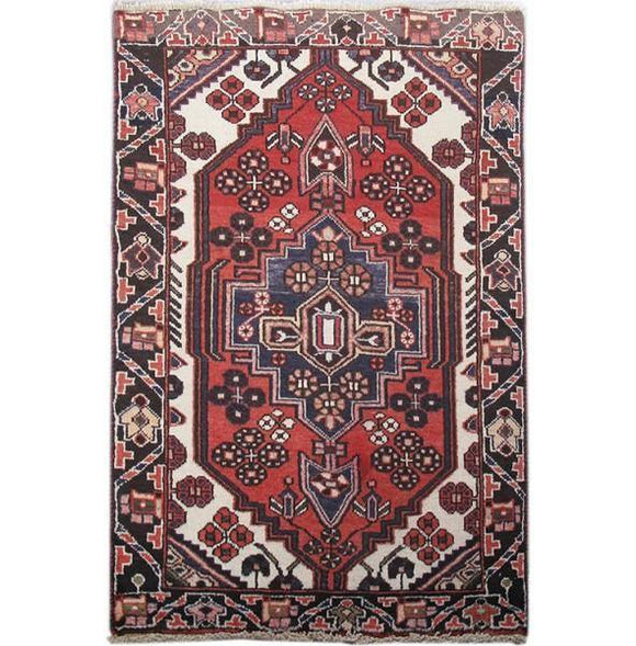 3x4 Authentic Hand-knotted Persian Ardebil Rug - Iran
