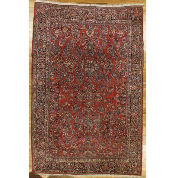 11x17 Authentic Hand-Knotted Semi-Antique Persian Sarouk Rug - Iran
