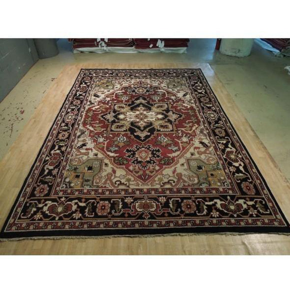 10x14 Authentic Hand Knotted Heriz Serapi Rug - India