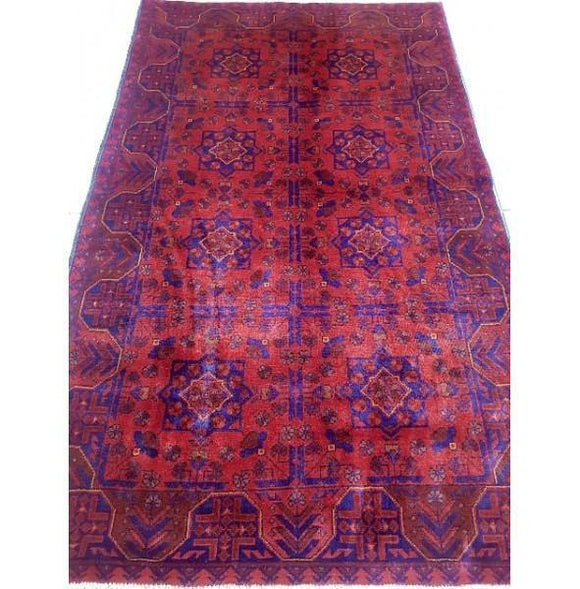 Stunning 6x4 Authentic Hand-knotted Khal Momadi Rug - Pakistan