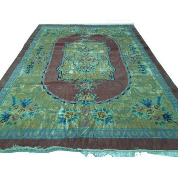 10x13 Authentic Handmade Wool and Silk Rug-China [BNY]