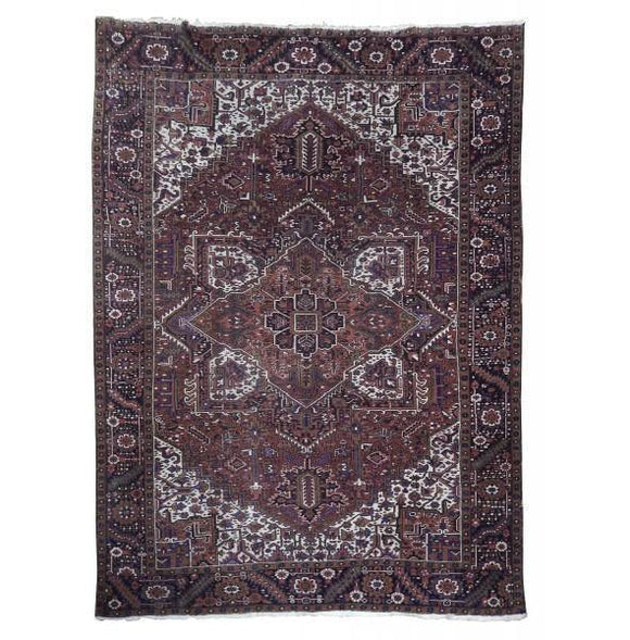 10x12 Authentic Handmade Semi-Antique Persian Heriz Rug - Iran
