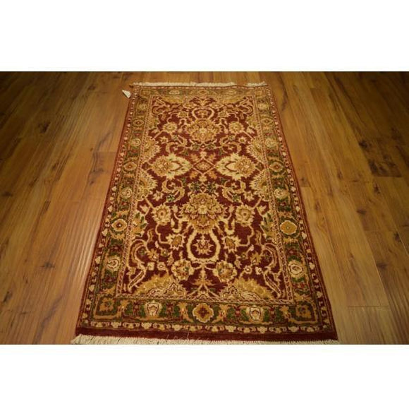 3x5 Authentic Hand Knotted Agra Rug - India