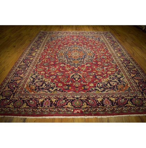 Fascinating 9x11 Authentic Hand-Knotted Rug
