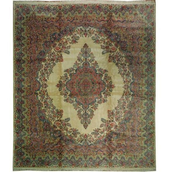Luxurious 12x14 Authentic Handmade Persian Kazvin Thick Wool Rug-Iran